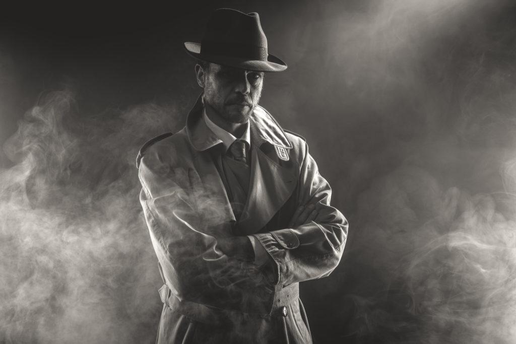 man in mystery film